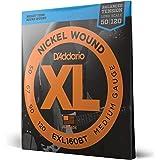 D'Addario EXL160BT, cuerdas con entorchado en níquel para bajo, tensión media equilibrada, 50-120