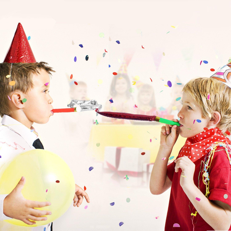 MOOKLIN Party Krachmachern Mehrfarbig Lustige Spielzeuge [100 Stück] 12.5 cm extra lang, Tischdeko Gastgeschenk Party…