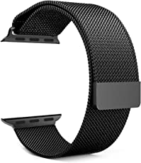 House of Quirk iWatch Band Apple 38mm Milanese Loop Adjustable Magnetic Strap