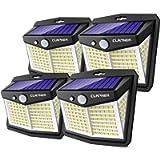 Luce Solare LED Esterno, Claoner 128 LED Faretti Solari a LED da Esterno 270° Illuminazione Luci Solari Esterno con…