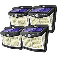 Claoner Lampe Solaire Extérieur Puissant【128 LED Lot de 4】Lumière Solaire Eclairage Exterieur IP65 Etanche Lampe Solaire…