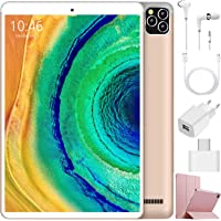 4G Tablet 10 Pollici, Android 9.0 3GB RAM e 32GB ROM/128 GB Espandibile Quad core /Dual SIM / WIFI / GPS/Bluetooth/OTG/Netflix /Type-C Tablet con Wifi Offerte - Certificato Google GMS (Oro)