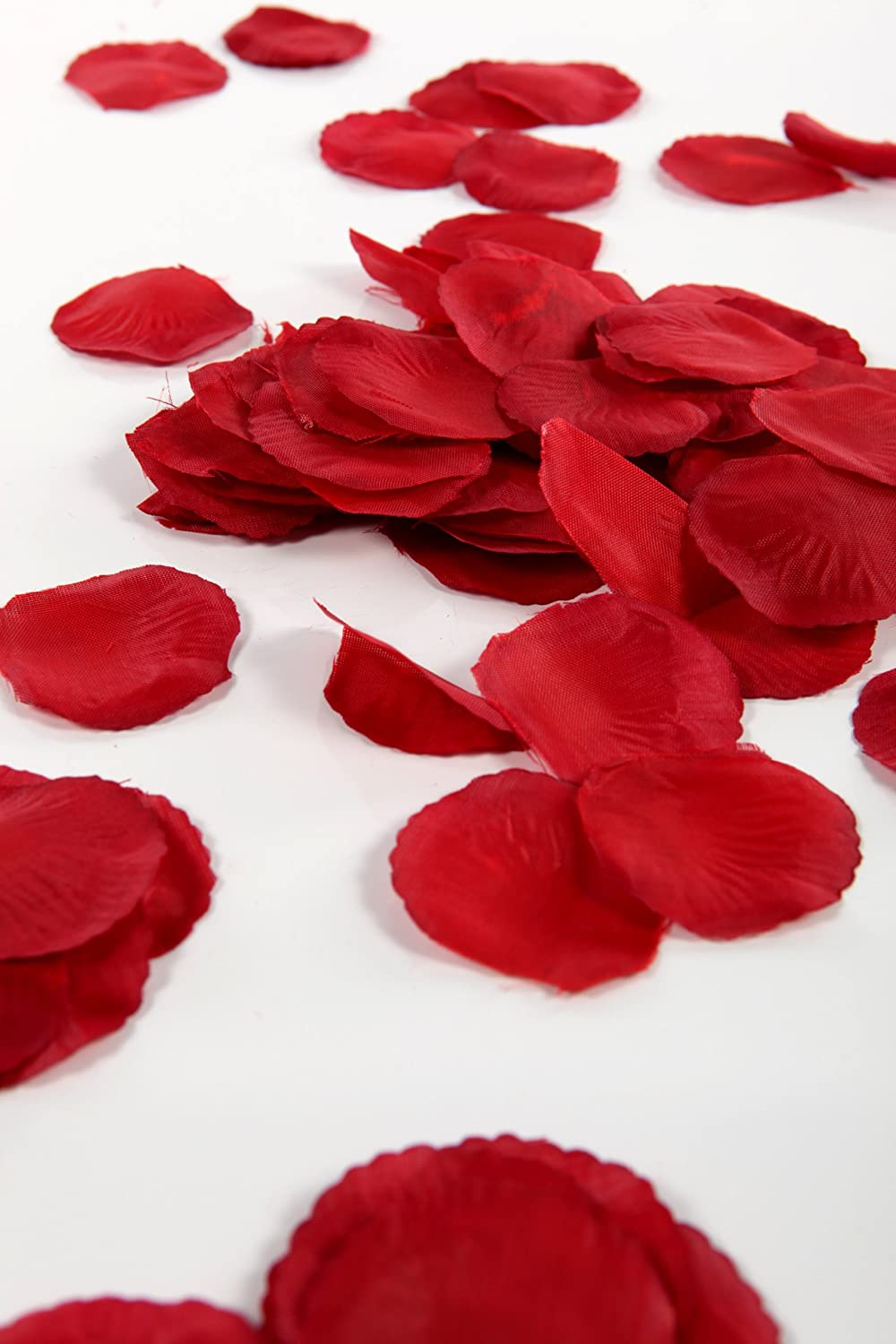 Wedding Table Silk Rose Petals 300 deep red silk rose petals great for valentines amazon co uk kitchen home