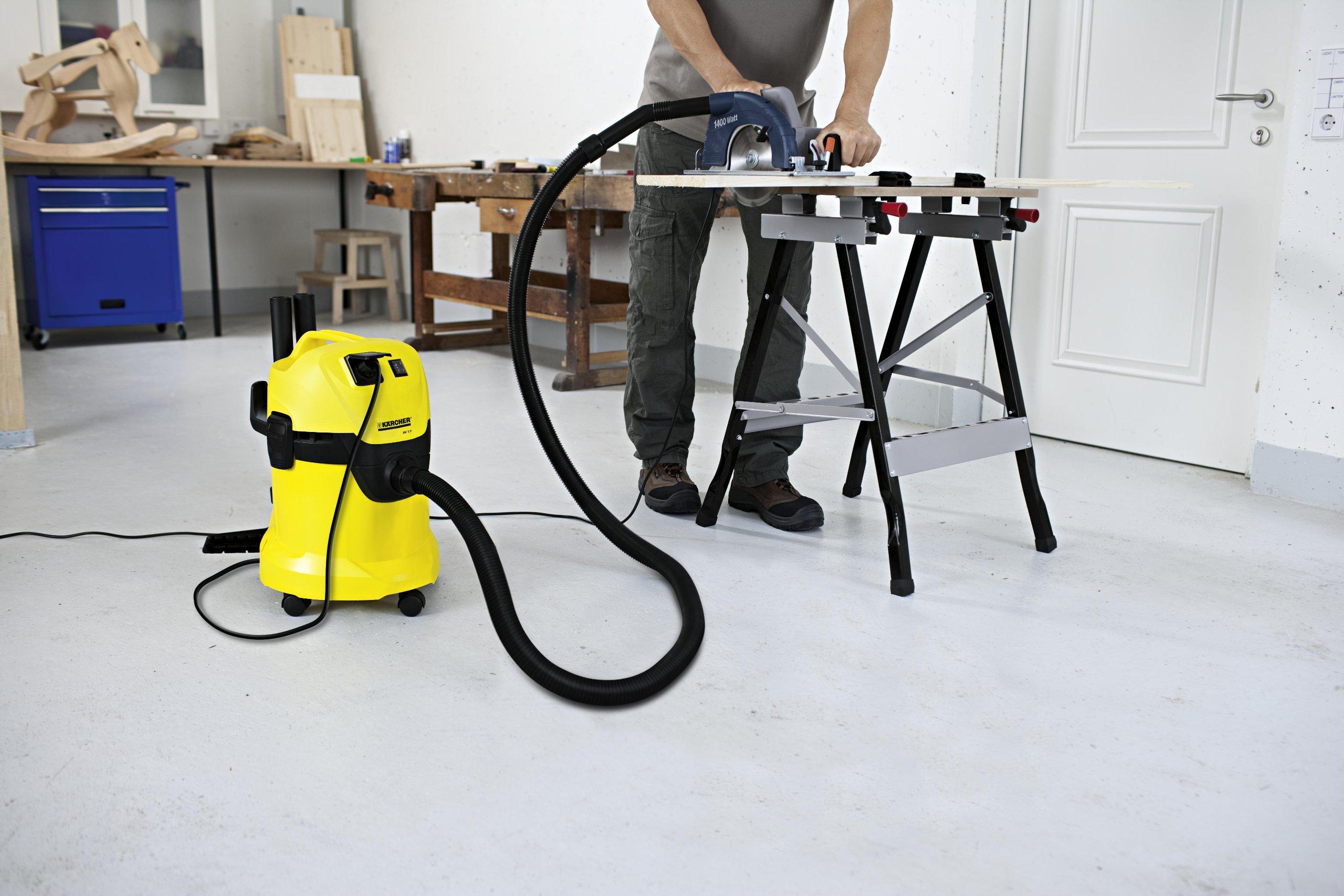 Kärcher Mehrzwecksauger WD 3 P (Tatsächliche Saugleistung: 200 Air Watt, Behältergröße: 17 l, Steckdose, Blasfunktion…