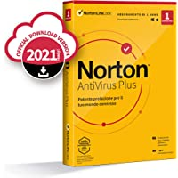 Norton Antivirus Plus 2021, Antivirus per 1 Dispositivo Licenza di 1 anno Secure VPN e Password Manager PC, Mac, tablet…