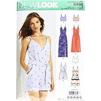 New Look 6493 Schnittmuster für Damen-Einteiler und Kleid in Zwei ...