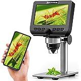 Microscopio digitale LCD,YINAMA 4,3 pollici 1080P 2 Megapixel Ingrandimento 1000X Zoom Wireless USB Stereo Microscopio Camera