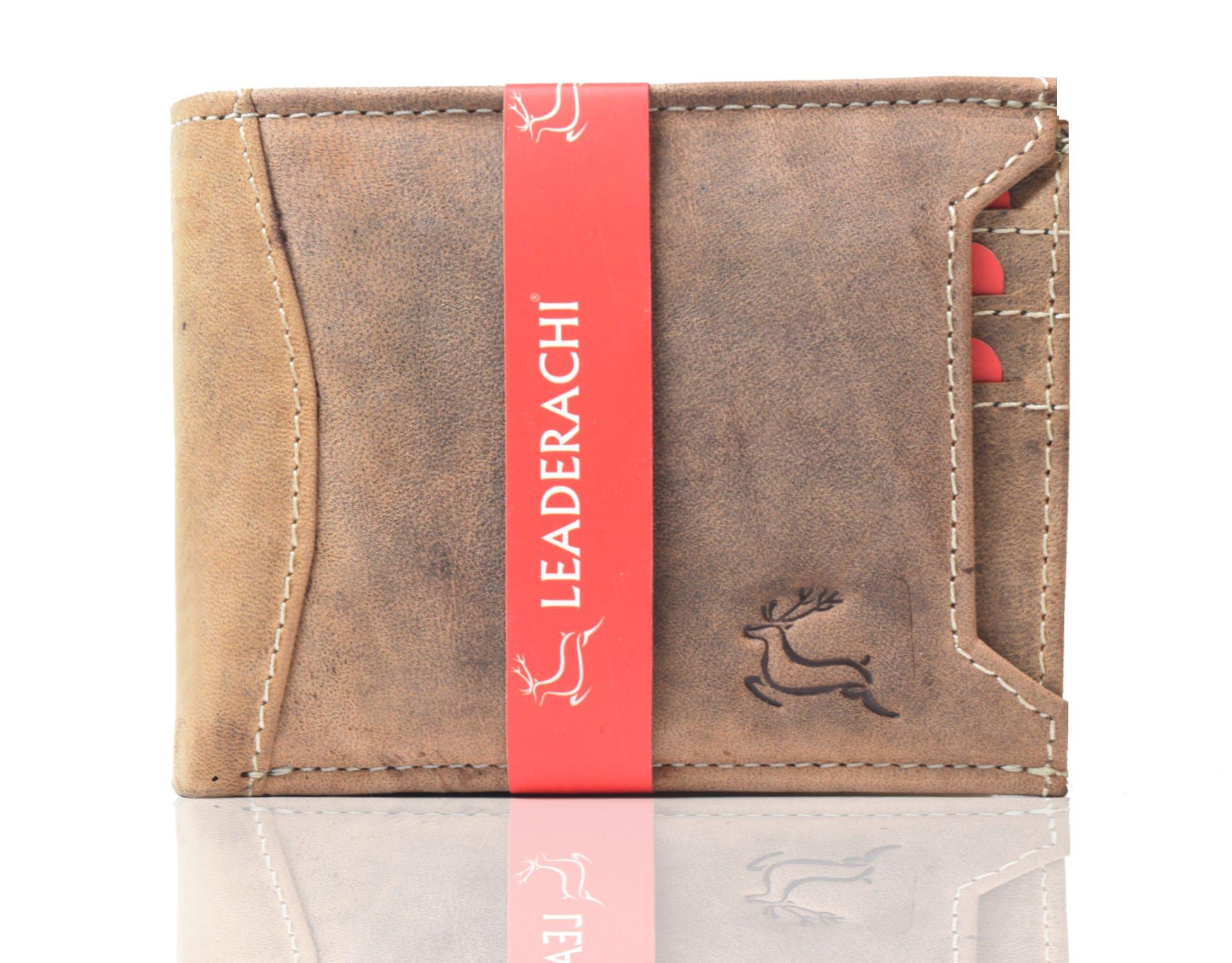Leaderachi Hunter Leather Men's Wallet (Asti-Muskat)