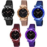 Shunya Luxurious Looking-1 Magnet Buckle Starry Sky Quartz Watches for Girls & Women Analog Watch Combo Pack-05