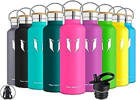 Super Sparrow Trinkflasche Edelstahl Wasserflasche - 350ml & 500ml & 620ml & 750ml & 1000ml - Isolier Flasche mit...