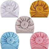 MaoXinTek Bébé Turban Bonnet Hôpital Bebe en Coton Chapeau, Toddler Enfants Fille Bandeaux Noeuds Casquettes pour 3-24 Mois N
