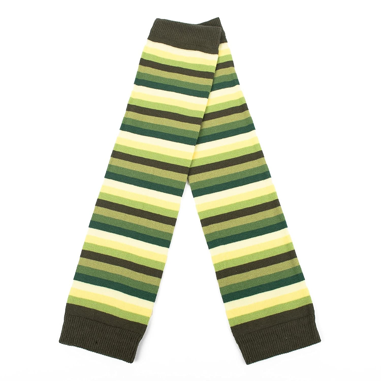 Ladies Armwarmers with Multi Coloured Thin Stripes