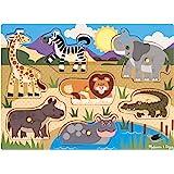 Melissa & Doug 19054 Knoppussel Safari, Flerfärgad, 7 st