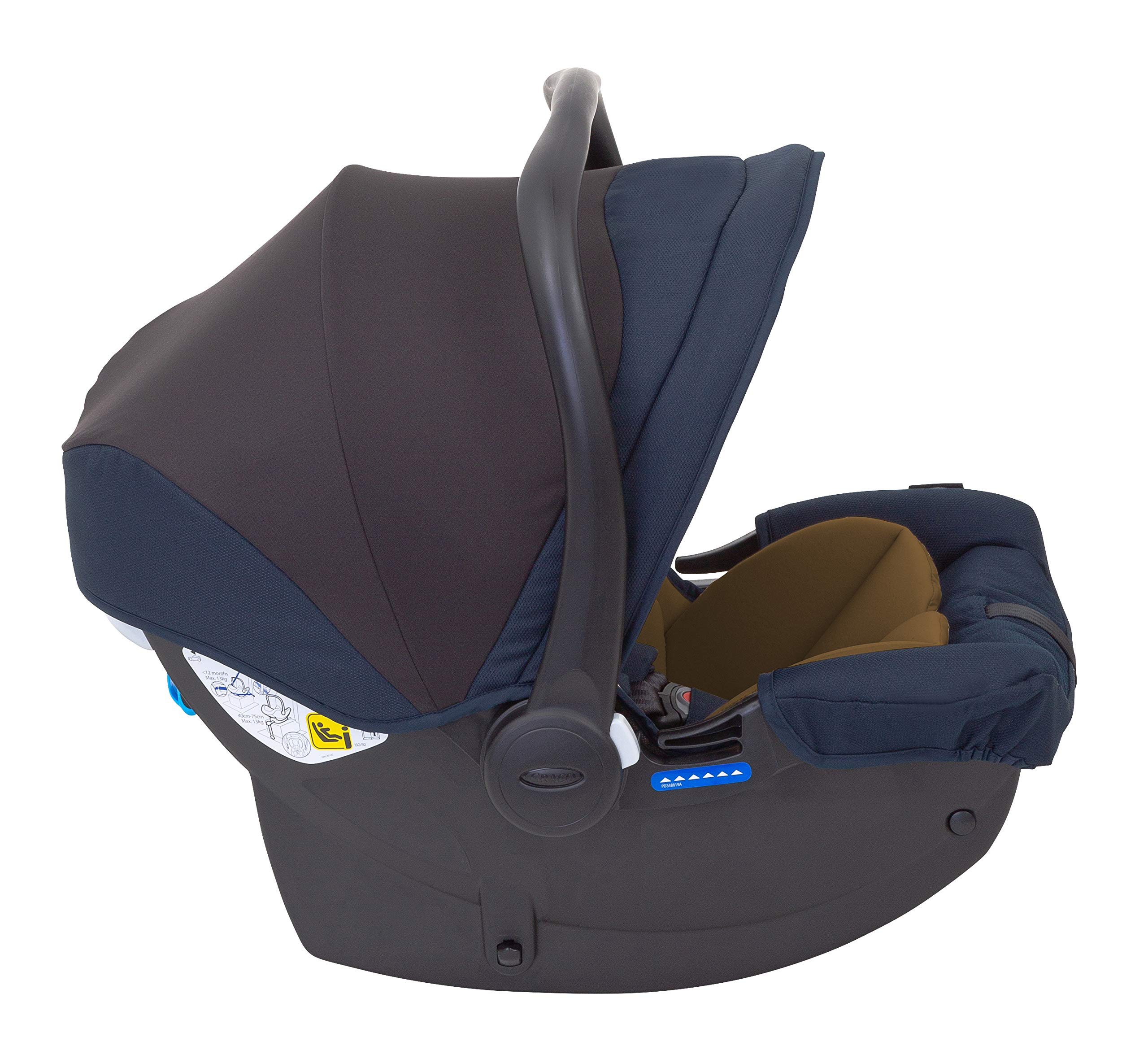 Graco Breaze Lite i-Size Travel System, Eclipse Graco From birth to 3 years approx. (0-15kg) Travel system package with snug essentials isize infant car seat included Lightweight stroller at only 6.5kg 7