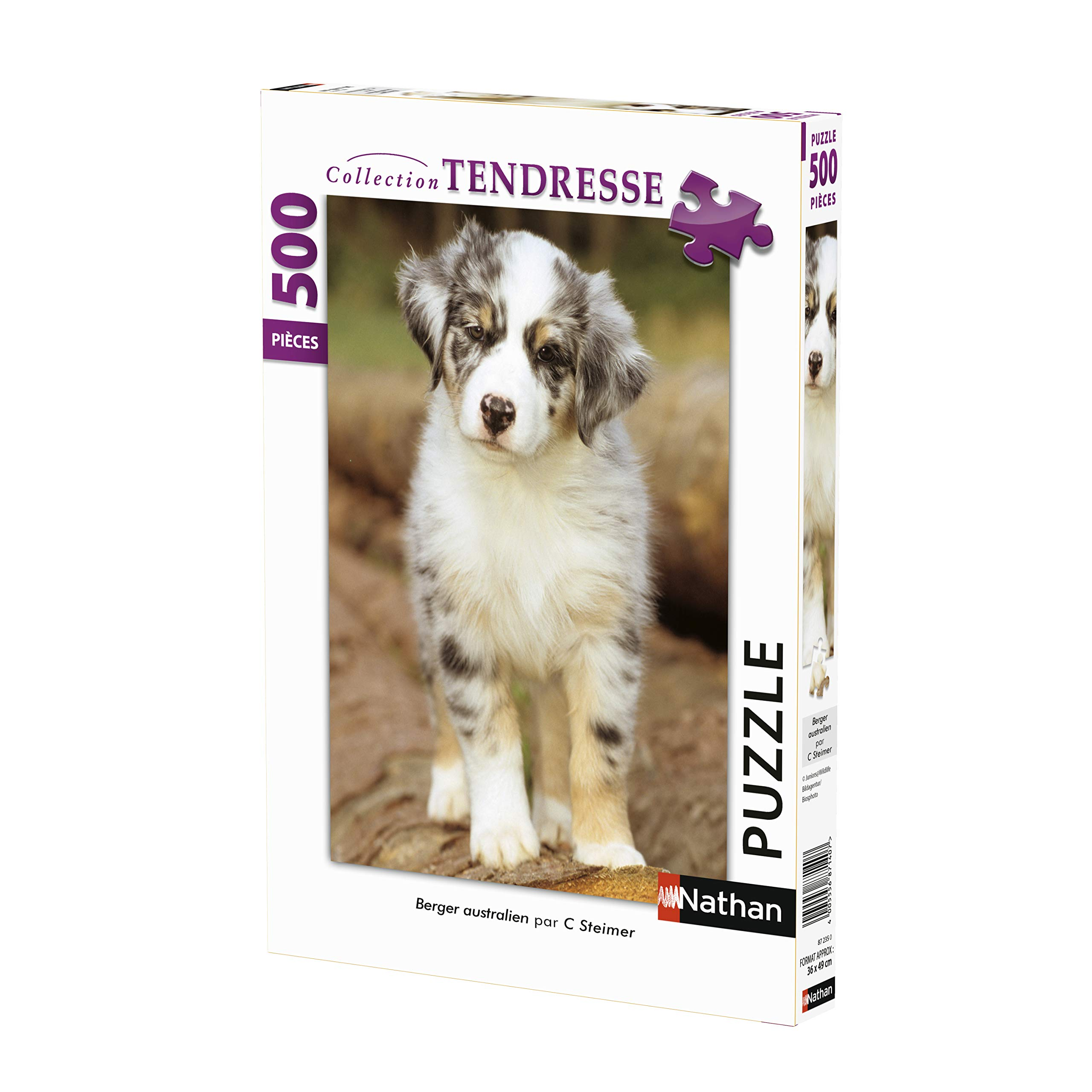 Nathan Australian Shepherd 500-Piece Adult Neant Jigsaw Puzzle