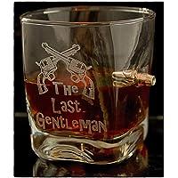 KolbergGlas Regalo per Uomini Bicchiere da Whisky con calibro proiettile reale 308 e gratuito- Incisione- The Last…