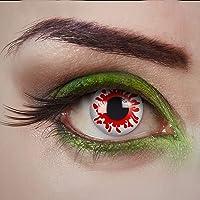 aricona lentilles de contact - lentilles de couleur pour un jour – Bloody Mary - lentilles de contact rouges blanches…