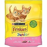 PURINA FRISKIES Kitten Lot de 12 Paquets de 375 g de cachette, Dinde, Lait et Vert, Poids Total 4,5 kg