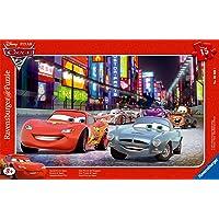 Ravensburger - 06006 - Puzzle Enfant avec Cadre - Cars 2, Grand Prix du Japon - 15 Pièces
