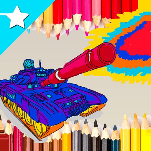 Coloring Army Tank World War - Military Commando (Tank Hero-laser Wars)