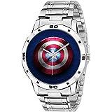 ZAVIO Captain America Avenger Graphics Analogue Multicolour Dial Men's Watch - Z-314