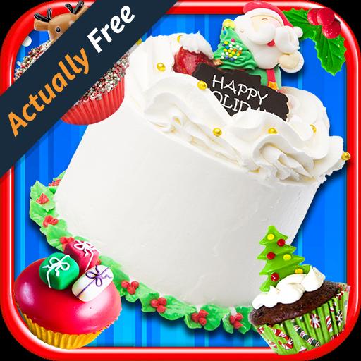 Christmas Cake Maker - Make & Bake Kids Candy Dessert Santa Kitchen Cooking Food Restaurant FREE Game