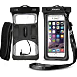 Floatable Waterproof Phone Case, Vansky Dry Bag with Armband and Audio Jack for iPhone 8, 8p, 7, 7Plus, 6, 6s plus, Andriod;