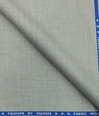Raymond Light Grey Self Design Poly Viscose Unstitched Fabric (1.25 Mtr) for Trouser or Suit