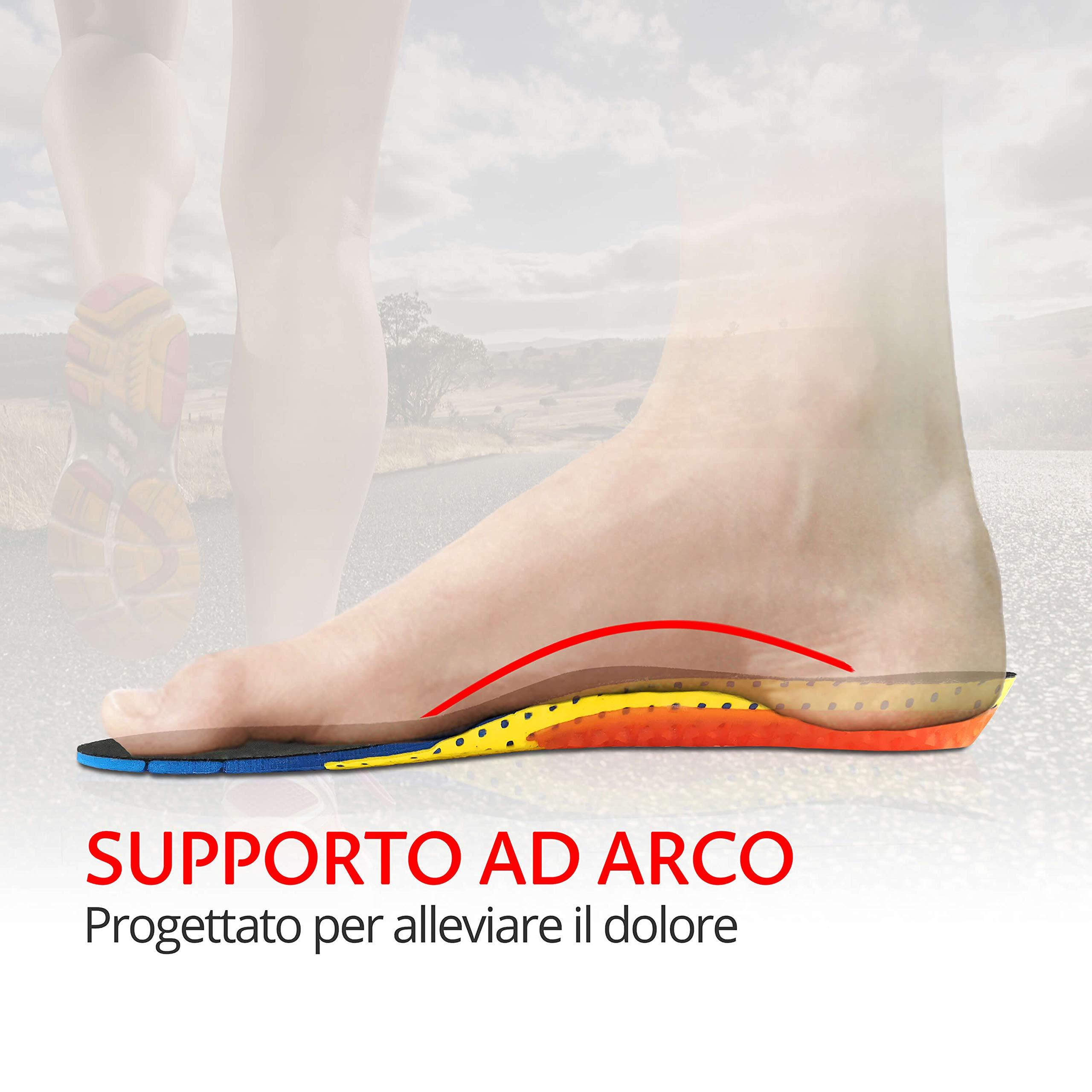 sports shoes 0078d 69fd3 Solette Plantari Sport Per Scarpe Con Cuscinetti in Gel Unisex Uomo Donna  Junior Con Supporto Ad Arco Sport Tempo Libero Lavoro Antishock Traspiranti  ...