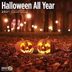 Halloween Calendar 2021 2021 Halloween All Year Wall Calendar by Bright Day, 12 x 12 Inch