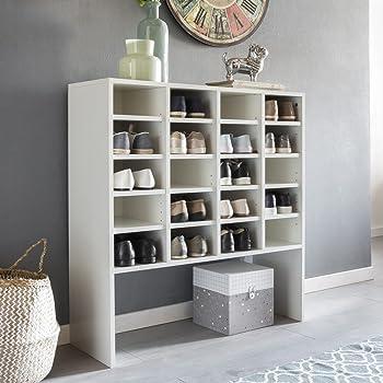 vicco schuhschrank hermia bis zu 20 paar schuhe und 4 paar stiefel schrank schuhregal. Black Bedroom Furniture Sets. Home Design Ideas