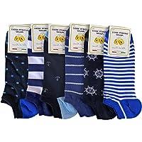 Lucchetti Socks Milano 6 PAIA fantasmini uomo cotone colorati fantasia filo di scozia pois disegni calzini corti alla…