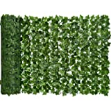 YQing Artificial Ivy Privacy Fence Screen, Artificial Hedges Fence and Faux Ivy Vine Leaf Decoration for Outdoor Decor…