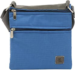 Walletsnbags Polyester, Nylon and Leather Twin Side Washable BlueTravel Bag