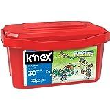 K'NEX 33870 - Bau- und Konstruktionsspielzeug Set 375 PC Deluxe, Baukasten Luxus mit 375 Teilen in praktischer Aufbewahrungsbox, Konstruktionsset für 30 Modelle, Bauset für Kinder von 7 bis 10 Jahre