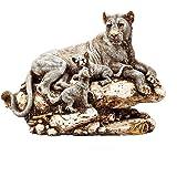 CraftVatika Polyresin Tiger Statue, Standard, Multicolour
