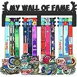 WEBIN My Wall of Fame Medaillehouder voor medailles, zwart super hard staal metaal, wandmontage meer dan 50 medailles