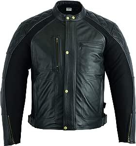 Texpeed Brown Wax Diamond Cut Waterproof Armoured Motorcycle//Motorbike Jacket