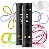Vivaloo - Batons Lumineux Fluorescents (x200) - Bracelet Fluorescent en Lot - 7 Couleurs Lumineuses - Glowsticks Party Bracel