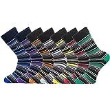 14-Pack Mens Socks | Smart Breathable Luxury Cotton Socks | Eco-Friendly From Recycle Cotton Socks | Mens Multipack Socks | S
