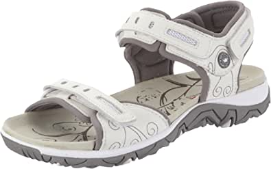 Allrounder by Mephisto Lagoona S.Leather 30 / Mesh 60 White/Warm Grey, Sandali Sportivi Donna