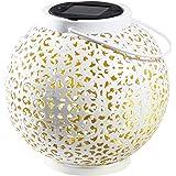 Gadgy Latarnia ogrodowa | marokańska lampa z efektem cienia | dekoracyjna lampa solarna | wodoodporna wisząca lub dekoracja s