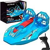 EXTSUD Hovercraft Kinderspielzeug, 2-in-1 Rennboot und Racing 2,4GHz ferngesteuertes Boot Wasserdichtes Luftkissenfahrzeug Fa