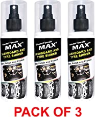 Max Dashboard & Tyre Shiner 200 ML (Pack of 3)