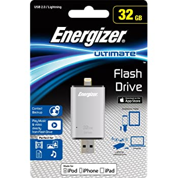Energizer Ultimate USB 2.0 OTG Flash Drive 32GB for iOS