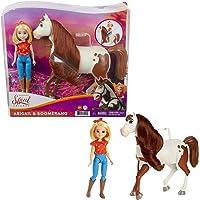 Spirit L'indomptable, poupée articulée Abigaelle et figurine cheval Boomerang à longue crinière pour rejouer les scènes…
