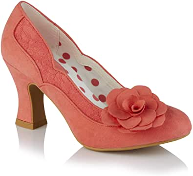Ruby Shoo Womens Chrissie Block Heeled Court Shoes 09336
