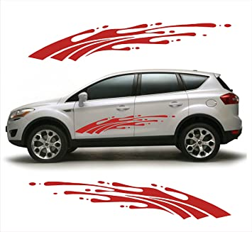 Vicky Decor Car Side Decal Full Body Vinyl Decal CAr Sticker - Graphics for the side of a car