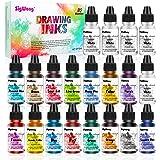 Alcoholinkt Set - 20 flessen levendige kleuren hoge geconcentreerde alcohol gebaseerde inkt, geconcentreerde epoxyhars verf k