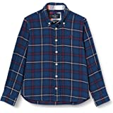 Hackett London Navy Flannel Plaid B Camisa para Niños